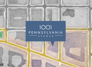 1001 Pennsylvania Avenue Logo Map